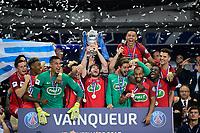 Esultanza PSG  con la coppa <br /> Parigi 27-05-2017 Stade de France <br /> Angers - Paris Saint Germain PSG Finale Coppa di Francia 2016/2017  <br /> Foto JB Autissier/ Panoramic/insidefoto