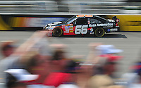 May 2, 2008; Richmond, VA, USA; NASCAR Sprint Cup Series driver Scott Riggs during practice for the Dan Lowry 400 at the Richmond International Raceway. Mandatory Credit: Mark J. Rebilas-