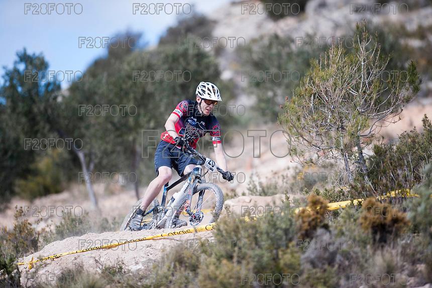 Chelva, SPAIN - MARCH 6: Sakari Lehtinen during Spanish Open BTT XCO on March 6, 2016 in Chelva, Spain
