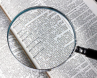 "CONVEX LENS OF MAGNIFYING GLASS ENLARGES TYPE<br /> Dictionary Entry - ""Magnification""<br /> A typical magnifying glass consists of a single thin bi-convex lens that produces a modest magnification in the range of 1.5x to 30x. It produce a virtual image that is magnified and upright."