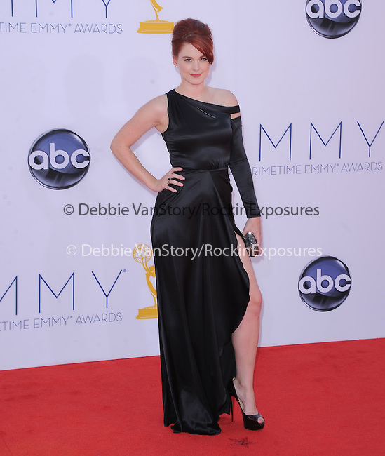 Alexandra Breckenridge. at The 64th Anual Primetime Emmy Awards held at Nokia Theatre L.A. Live in Los Angeles, California on September  23,2012                                                                   Copyright 2012 Hollywood Press Agency