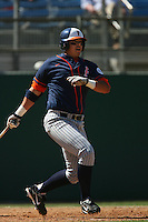 March 28 2009: Nick Ramirez of the CS Fullerton Titans during game against the UC Riverside Highlanders at Riverside Sports Complex in Riverside,CA.  Photo by Larry Goren/Four Seam Images