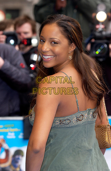 SU-ELISE NASH - MIS-TEEQ.Valiant Premiere, Odeon West End Leicester Square..March 20th, 2005.half length glooking over shoulder.www.capitalpictures.com.sales@capitalpictures.com.©Capital Pictures
