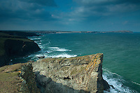Trevose Head from the cliffs at Porthmisson Bridge near Padstow, Cornwall