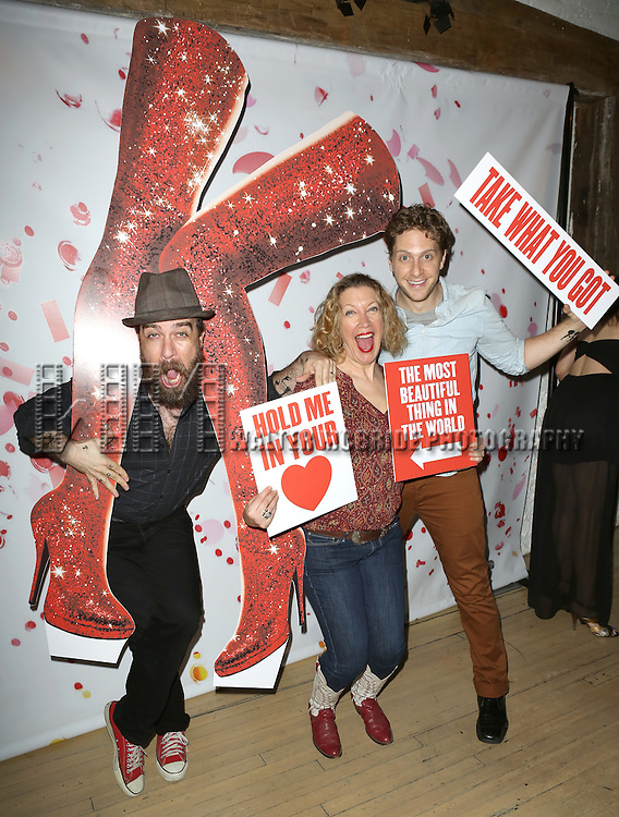 Eric Anderson, Adinah Alexander and Andy Kelso attending the Kinky Boots' Original Broadway Cast Recording Release Listening Party at ABC Kitchen in New York City on May 28, 2013