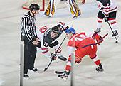 Dawson Creek, BC - Dec 13 2019: Game 10 - Canada East vs. Czech Republic at the 2019 World Junior A Championship at the ENCANA Event Centre in Dawson Creek, British Columbia, Canada. (Photo by Matthew Murnaghan/Hockey Canada)