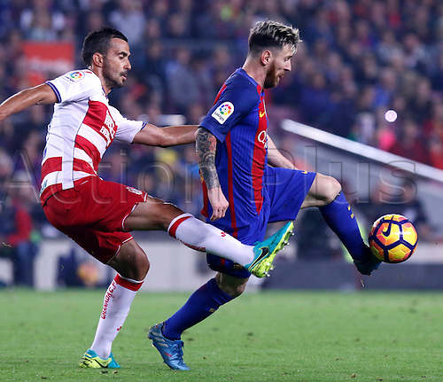 29.10.2016 Barcelona. La Liga football league. Leo Messi in action during the league game between FC Barcelona against Granada CF at camp nou