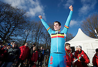 Wout Van Aert (BEL) victorious<br /> <br /> 2014 UCI cyclo-cross World Championships, Men U23