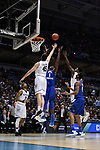 MILWAUKEE, WI - MARCH 18: Middle Tennessee Blue Raiders forward Brandon Walters (1) and Butler Bulldogs forward Andrew Chrabascz (45) contest a rebound during the first half of the 2017 NCAA Men's Basketball Tournament held at BMO Harris Bradley Center on March 18, 2017 in Milwaukee, Wisconsin. (Photo by Jamie Schwaberow/NCAA Photos via Getty Images)