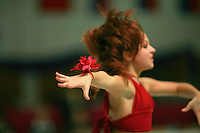 Karolina Raskina of Germany (junior) performs gala exhibition at Schmiden Tournament on March 10, 2007 at Schmiden, Germany.