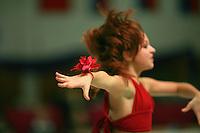 Karolina Raskina of Germany (junior) performs gala exhibition at Schmiden Tournament on March 10, 2007 at Schmiden, Germany.