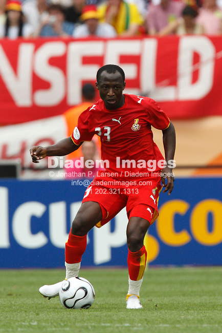 NUREMBERG, GERMANY - JUNE 22:  Haminu Draman of Ghana in action during a 2006 FIFA World Cup soccer match against the United States June 22, 2006 in Nuremberg, Germany.  (Photograph by Jonathan P. Larsen)