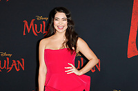 """LOS ANGELES - MAR 9:  Auli'i Cravalho at the """"Mulan"""" Premiere at the Dolby Theater on March 9, 2020 in Los Angeles, CA"""