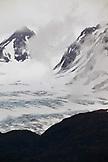 USA, Alaska, Homer, Kenai mountains and Kenai Penninsula glaciers viewed from East End road in Homer