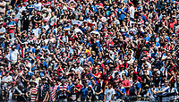 Nashville, TN - Saturday July 08, 2017: USA supporters during a 2017 Gold Cup match between the men's national teams of the United States (USA) and Panama (PAN) at Nissan Stadium.
