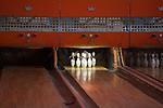 Bowling d Asmara construit dans les annees 60. Le syteme manuel de l epoque est toujours en fonctionnement avec des jeunes garcons remettant les quilles a la main....Bowling alley built in the 60s. Today it operates as it did in the 1960s, on a fully manual system with young boys loading the pins for a small earning.