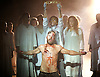 Jesus Christ Superstar <br /> by Tim Rice &amp; Andrew Lloyd Webber <br /> at The Regent's Park Open Air Theatre, London, Great Britain <br /> press photocall<br /> 19th July 2016 <br /> <br /> Declan Bennett as Jesus <br /> <br /> Tyrone Huntley as Judas <br /> <br /> Anoushka Lucas Mary <br /> <br /> Peter Caulfield as Herod <br /> <br /> <br /> <br /> Photograph by Elliott Franks <br /> Image licensed to Elliott Franks Photography Services