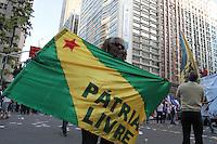 RIO DE JANEIRO, RJ, 11 JULHO 2013 - DIA NACIONAL DE LUTA - Passeata pelo dia nacional de luta feito pelos sindicatos dos trabalhadores de varias a centrais sindicais no Rio de Janeiro a passeata começou na Candelária e terminará na Cinelandia o movimento e de nível nacional nessa quinta 11. (FOTO: LEVY RIBEIRO / BRAZIL PHOTO PRESS)