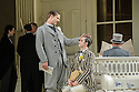 London UK. 19.11.2015. English National Opera presents THE MIKADO, by Arthur Sullivan & W. S. Gilbert, directed by Jonathan Miller, at the London Coliseum. Picture shows: George Humphreys (Pish-Tush) and Anthony Gregory (Nanki-Poo). Photograph © Jane Hobson.