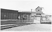 D&amp;RGW Alamosa roundhouse and turntable with #483 and #495 tenders showing.<br /> D&amp;RGW  Alamosa, CO