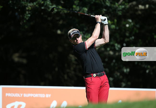 Simon Dyson (ENG) from the 18th tee during Round One of the Africa Open 2015 at the East London Golf Club, East London, Eastern Cape, South Africa. Picture:  David Lloyd / www.golffile.ie. 05/03/2015