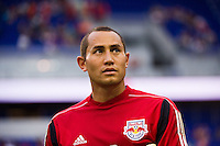 New York Red Bulls goalkeeper Luis Robles (31). The New York Red Bulls  defeated the Portland Timbers 3-2 during a Major League Soccer (MLS) match at Red Bull Arena in Harrison, NJ, on August 19, 2012.