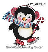 CHRISTMAS ANIMALS, WEIHNACHTEN TIERE, NAVIDAD ANIMALES, paintings+++++,KL6123/5,#xa# ,sticker,stickers