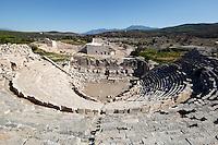 Turkey, Province Antalya, Patara near Kalkan: Amphitheatre and ruins | Tuerkei, Provinz Antalya, Patara bei Kalkan: Amphitheater