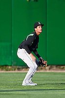Dayton Dragons center fielder Jose Siri (15) during a game against the Peoria Chiefs on May 6, 2016 at Dozer Park in Peoria, Illinois.  Peoria defeated Dayton 5-0.  (Mike Janes/Four Seam Images)