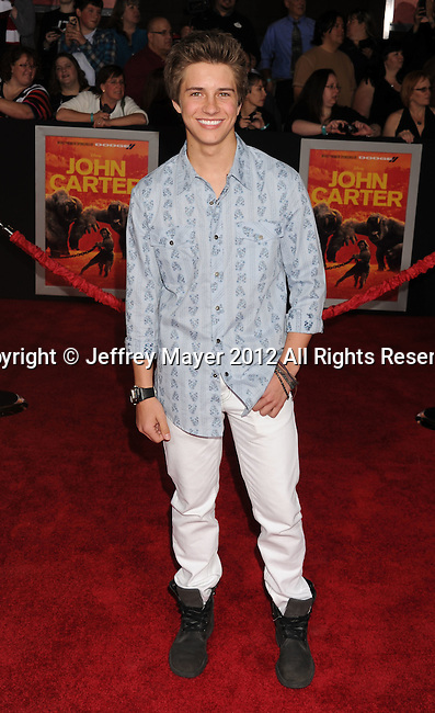 LOS ANGELES, CA - FEBRUARY 22: Billy Unger attends the 'John Carter' Los Angeles premiere held at the Regal Cinemas L.A. Live on February 22, 2012 in Los Angeles, California.