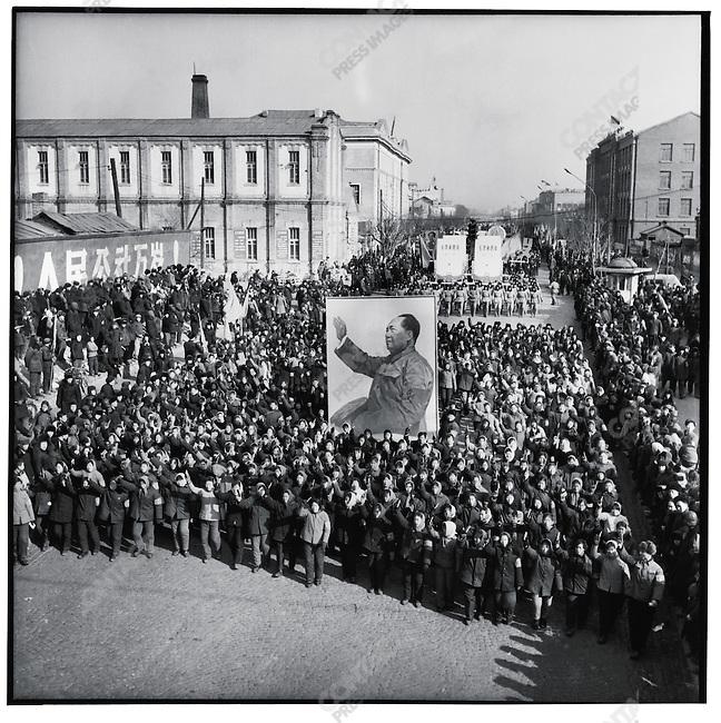 Two weeks after seizing power from the Harbin municipal government, rebels and the PLA continue to march in the streets to celebrate Mao and the revolution. Harbin, 16 February 1967.