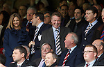 Rangers owner Craig Whyte in the Tynecastle directors box