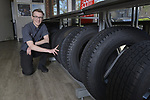 Steve Hamm, Tire Manager, at the Firestone Complete Auto Care facility in Clayton, MO, on Friday, April 12, 2019 in St. Louis. (Tim Vizer/AP Images for Bridgestone Retail Operations)