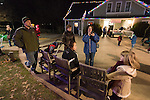 family at holiday lights, Dominion GardenFest of Lights at Lewis Ginter Botanical Garden in Richmond, Virginia, USA