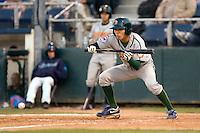 Boise Hawks' Pin-Chieh Chen #10 at bat against the Everett AquaSox at Everett Memorial Stadium on July 30, 2011.  (Ronnie Allen/Four Seam Images)