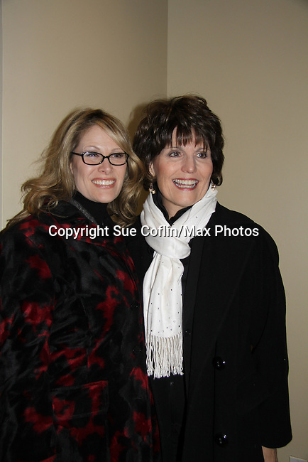Jodi Stevens & Lucy Arnaz  attend the opening night of Dracula on January 5, 2011 at the Little Shubert Theatre, New York City, New York and after party at Sardis. (Photo by Sue Coflin/Max Photos)