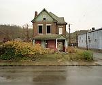 Abandoned house at 200 Talbot Ave., Braddock, Pennsylvania, October 30, 2008.