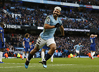 Sport Bilder des Tages Sergio Aguero of Manchester City celebrates scorn the third goal during the Premier League match at the Etihad Stadium, Manchester. Picture date: 10th February 2019. Picture credit should read: Andrew Yates/Sportimage/Imago/Insidefoto PUBLICATIONxNOTxINxUK _AY13212.JPG  <br /> ITALY ONLY
