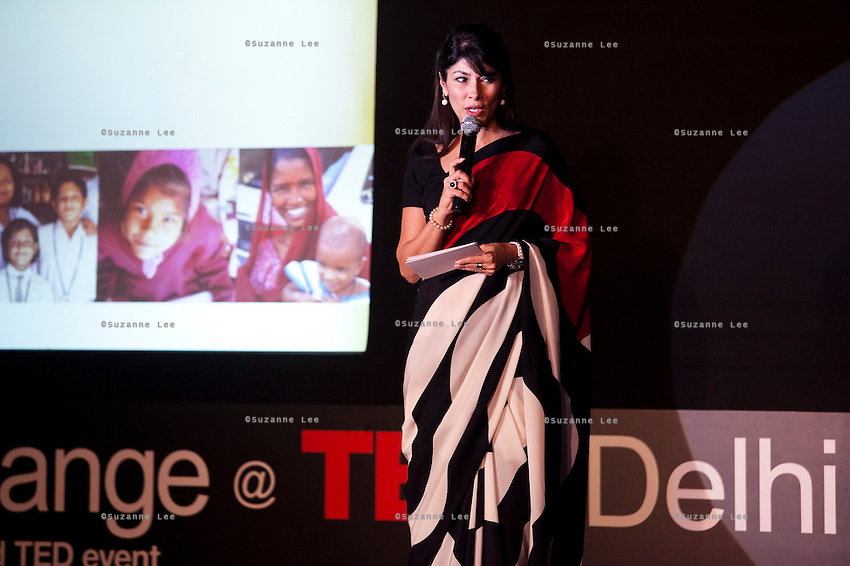 Feroze Gujral felicitates the talks at the India Islamic Cultural Centre during the TEDxChange @ TEDxDelhi in New Delhi, India on 22nd March 2011..
