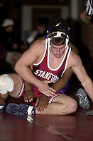 Garrett Johnston wrestles against San Francisco State on November 14, 2000 at Burnham Pavilion.
