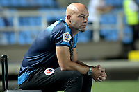 CALI-COLOMBIA , 02-05-2019.Sebastián Méndez director técnico  del  Cúcuta Deportivo ante el América de Cali durante partido por la fecha 19 de la Liga Águila I 2019 jugado en el estadio Pascual Guerrero de la ciudad de Cali./ Sebastian Mendez coach  of Cucuta Deportivo agaisnt of America de Cali during the match for the date 19 of the Aguila League I 2019 played at Pascual Guerrero stadium in Cali city. Photo: VizzorImage/ Nelson Rios / Contribuidor