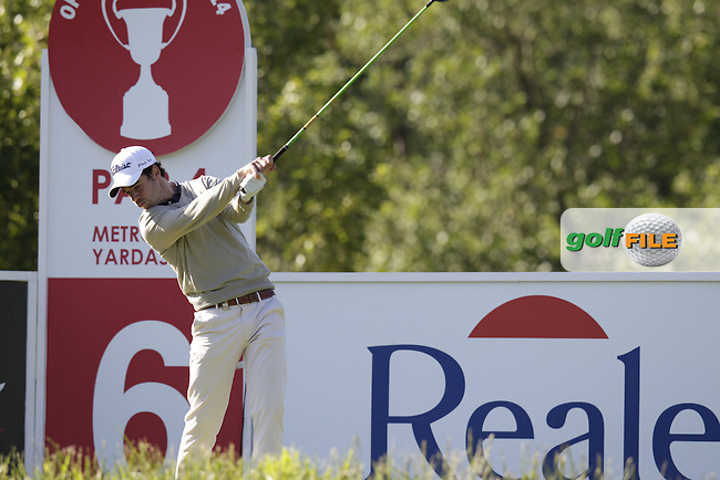 Victor Riu (FRA) tees off the 6th tee during Friday's Round 2 of the 2014 Open de Espana held at the PGA Catalunya Resort, Girona, Spain. Wednesday 16th May 2014.<br /> Picture: Eoin Clarke www.golffile.ie