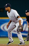 16 June 2006: Robinson Cano, second baseman for the New York Yankees, in action against the Washington Nationals at RFK Stadium, in Washington, DC. The Yankees defeated the Nationals 7-5 in the first meeting of the two franchises...Mandatory Photo Credit: Ed Wolfstein Photo...