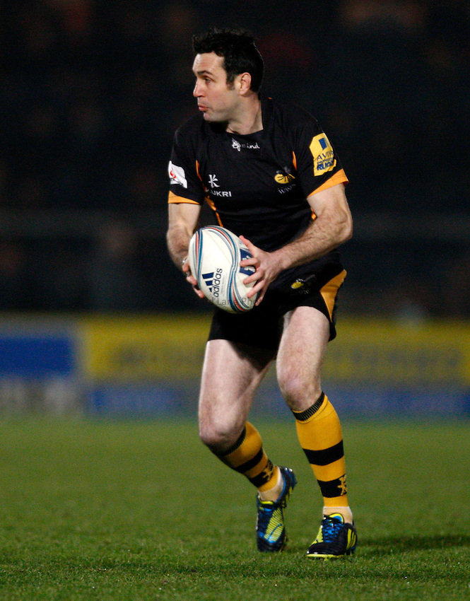 Photo: Richard Lane/Richard Lane Photography. London Wasps v Aviron Bayonne. Amlin Challenge Cup. 13/12/2012. Wasps' Stephen Jones.