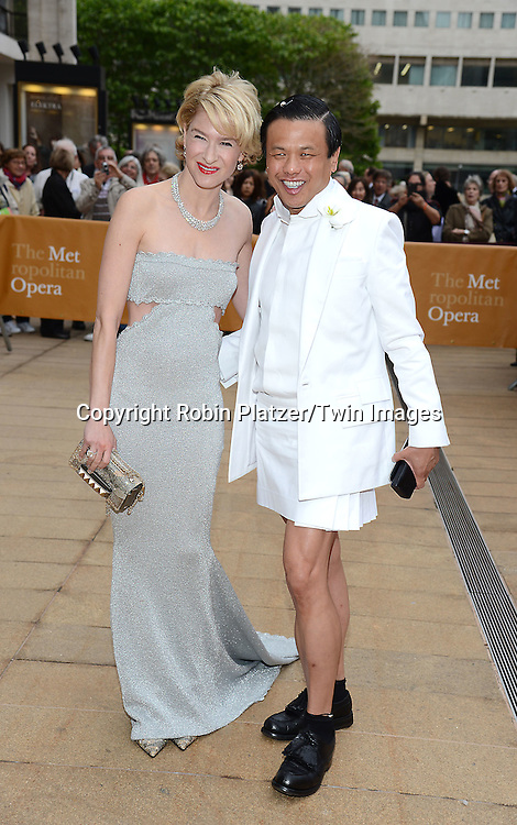 Julie Macklowe and Zang Toi attends the American Ballet Theatre's 75th Anniversary Spring Gala on May 18, 2015 at the Metropolitan Opera House in New York, New York, USA.<br /> <br /> photo by Robin Platzer/Twin Images<br />  <br /> phone number 212-935-0770
