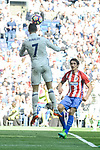 Real Madrid's Cristiano Ronaldo and Atletico de Madrid's Stefan Savic during La Liga match between Real Madrid and Atletico de Madrid at Santiago Bernabeu Stadium in Madrid, April 08, 2017. Spain.<br /> (ALTERPHOTOS/BorjaB.Hojas)