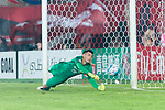 Guangzhou Goalkeeper Zeng Cheng in action during the AFC Champions League 2017 Round of 16 match between Guangzhou Evergrande FC (CHN) vs Kashima Antlers (JPN) at the Tianhe Stadium on 23 May 2017 in Guangzhou, China. (Photo by Power Sport Images/Getty Images)