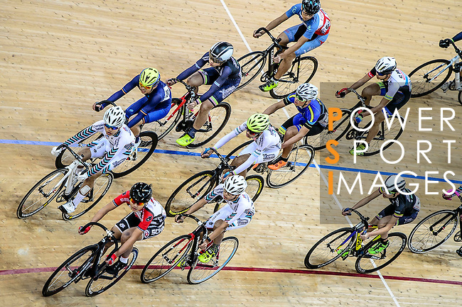 Cyclists compete during the Elimination Open Final Track Cycling Race 2016-17 Series 3 at the Hong Kong Velodrome on February 4, 2017 in Hong Kong, China. Photo by Marcio Rodrigo Machado / Power Sport Images