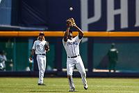 Jose Pirela.<br /> Acciones del partido de beisbol, Dodgers de Los Angeles contra Padres de San Diego, tercer juego de la Serie en Mexico de las Ligas Mayores del Beisbol, realizado en el estadio de los Sultanes de Monterrey, Mexico el domingo 6 de Mayo 2018.<br /> (Photo: Luis Gutierrez)