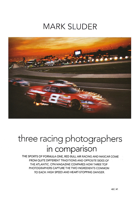 Opening page for a feature called 'Three Working Photographers - In Comparison'..In Issue No. 2 of CPN Europa Magazine, a magazine published by Canon Professional Network in Europe and Asia in 5 languages.